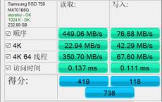 AS SSD Benchmark v2.0.7316 专业SSD固态硬盘测试绿色汉化版